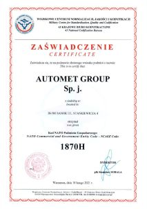 NCAG Automet Group 2016 Certificate